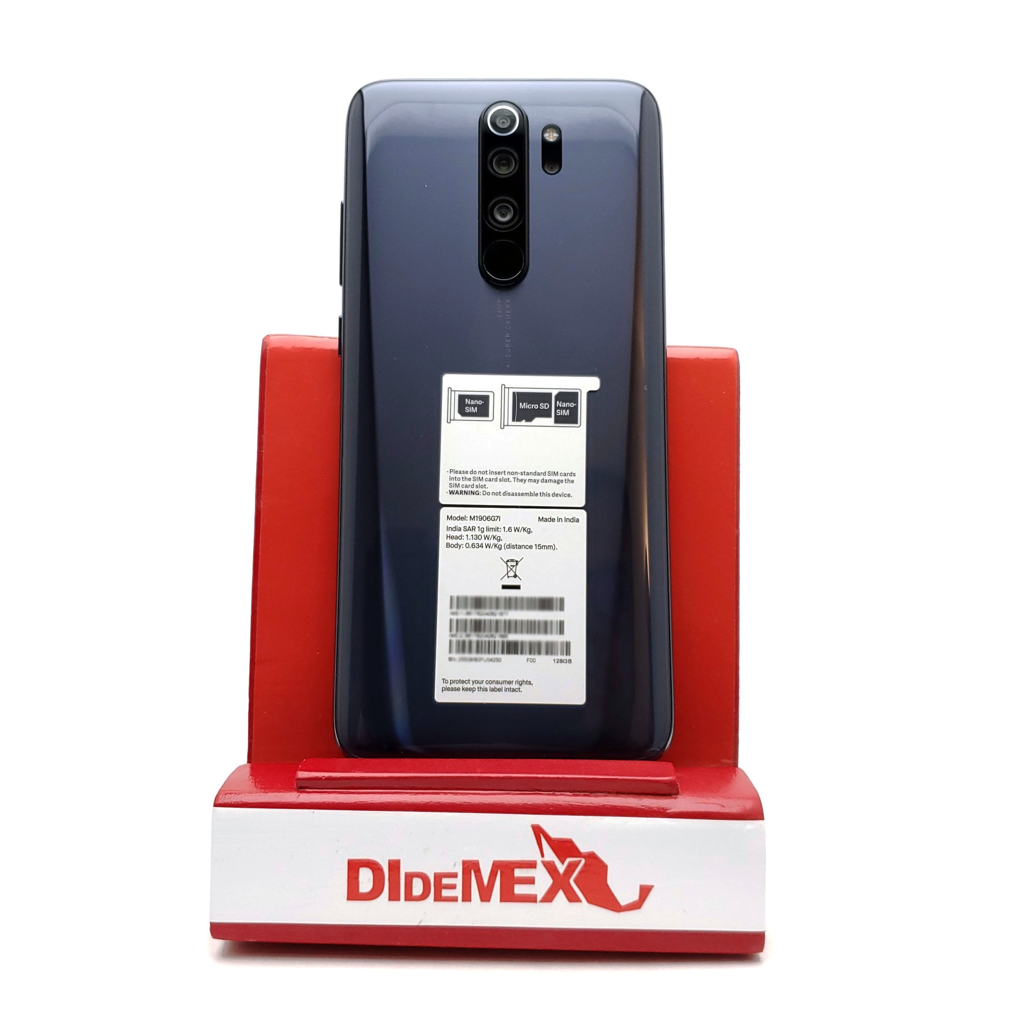 Xiaomi Redmi Note 8 128gb PRO Negro Carbon